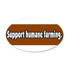 Cute Factory farming Oval Car Magnet