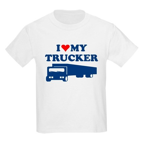 I LOVE MY TRUCKER SHIRT husba Kids Light T-Shirt