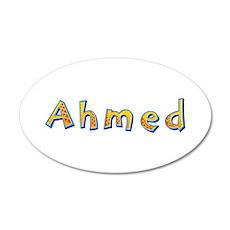 Ahmed Giraffe 35x21 Oval Wall Decal