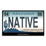 Arizona License Plate Sticker - NATIVE