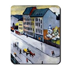Macke - Our Street in Gray, 1911 Mousepad