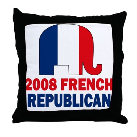 French Republican Throw Pillow