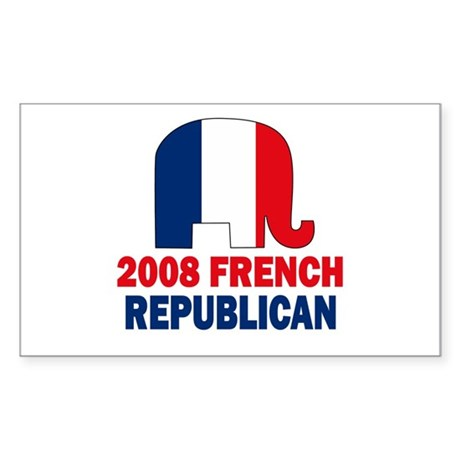 French Republican Rectangle Sticker
