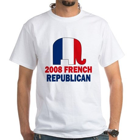 French Republican White T-Shirt