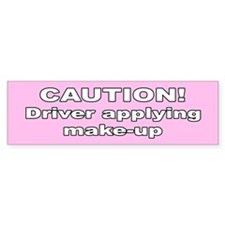 Woman driver Bumper Bumper Sticker