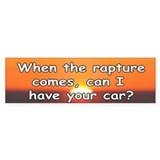 The Rapture Bumper Bumper Sticker