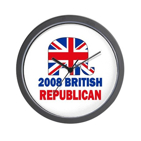 British Republican Wall Clock