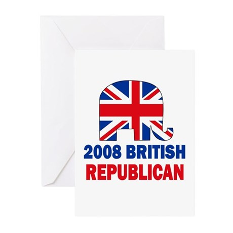 British Republican Greeting Cards (Pk of 10)