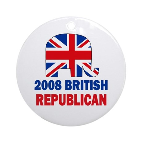 British Republican Ornament (Round)