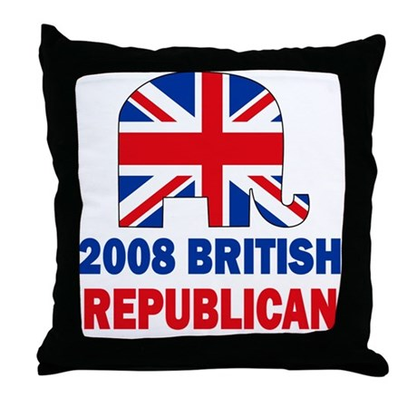 British Republican Throw Pillow