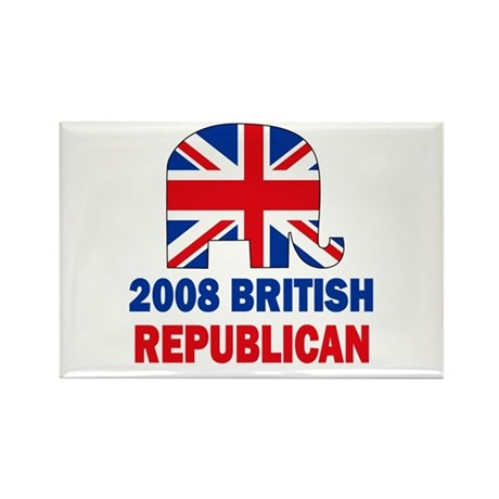 British Republican Rectangle Magnet