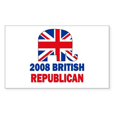 British Republican Rectangle Sticker