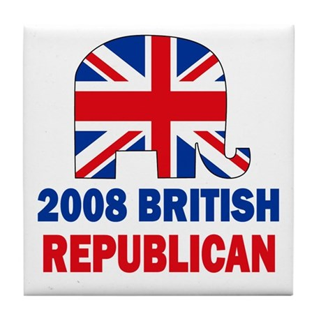 British Republican Tile Coaster