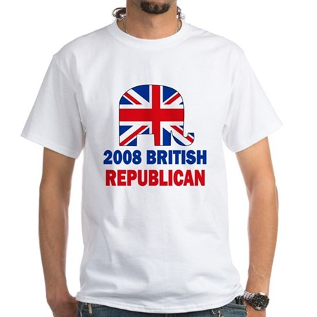 British Republican White T-Shirt