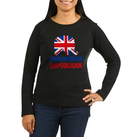 British Republican Women's Long Sleeve Dark T-Shir