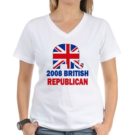 British Republican Women's V-Neck T-Shirt