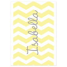 Personalized yellow chevron Invitations