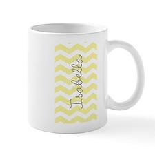 Personalized yellow chevron Mugs