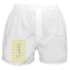 Personalized yellow chevron Boxer Shorts