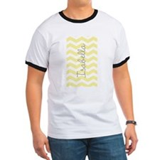 Personalized yellow chevron T-Shirt