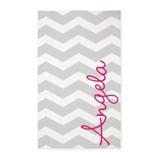 Personal name grey chevron 3'x5' Area Rug