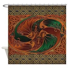 Harvest Moons Dueling Dragons Shower Curtain
