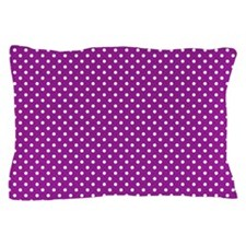 Magenta Damask and Matching Polka Dots Pillow Case
