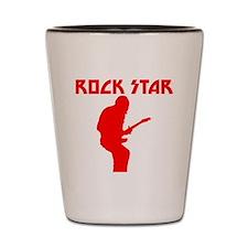 Red Rock Star Shot Glass