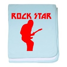 Red Rock Star baby blanket