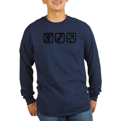 MaleBoth to Male Long Sleeve Dark T-Shirt