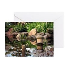 Japanese garden pond 2 Greeting Card