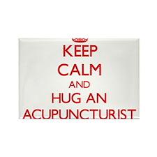 Keep Calm and Hug an Acupuncturist Magnets