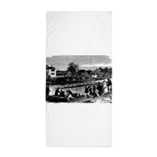 Vintage English Regatta Beach Towel