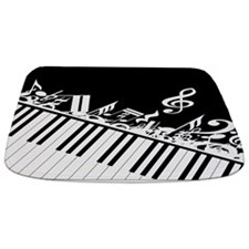 Stylish designer piano and music notes in classic