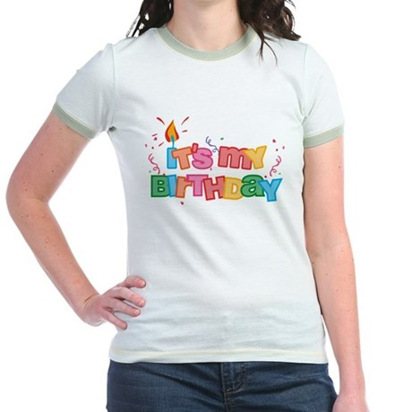 It's My Birthday Letters Jr. Ringer T-Shirt