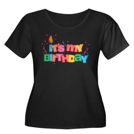 It's My Birthday Letters Women's Plus Size Scoop N