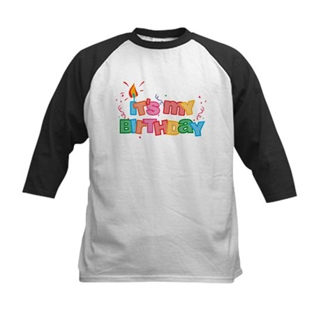 It's My Birthday Letters Kids Baseball Jersey