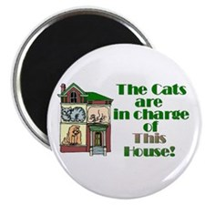 "The cats are in charge! 2.25"" Magnet (10 pack)"