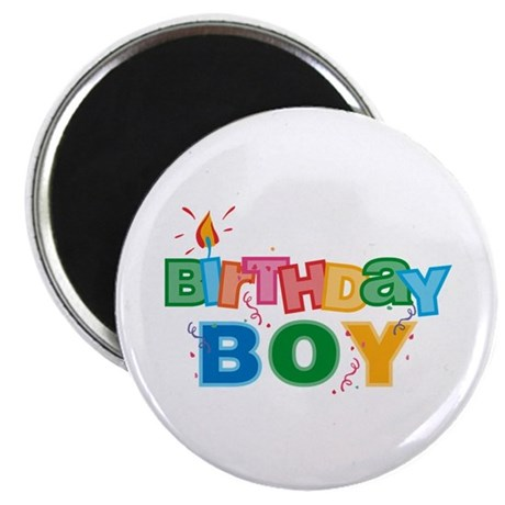 Birthday Boy Letters Magnet