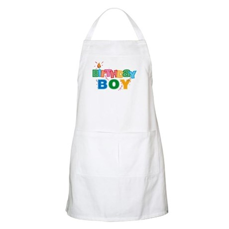 Birthday Boy Letters BBQ Apron