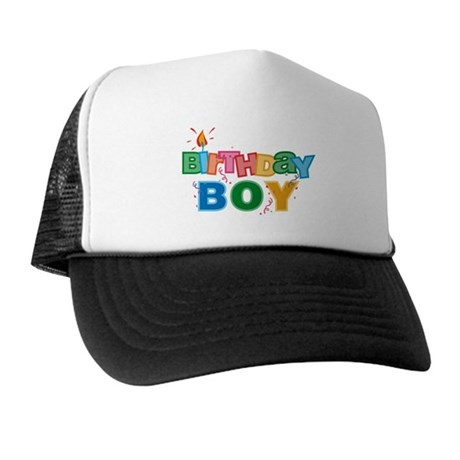Birthday Boy Letters Trucker Hat