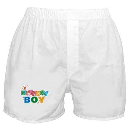 Birthday Boy Letters Boxer Shorts
