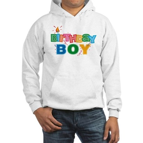 Birthday Boy Letters Hooded Sweatshirt
