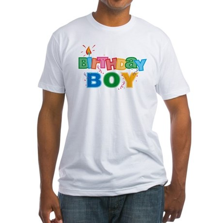 Birthday Boy Letters Fitted T-Shirt