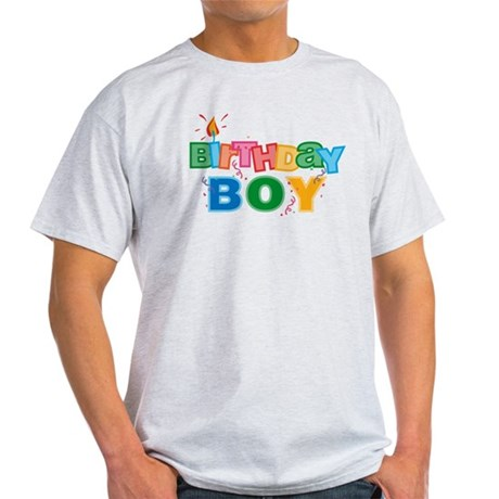 Birthday Boy Letters Light T-Shirt