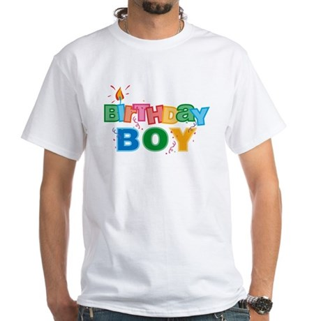 Birthday Boy Letters White T-Shirt