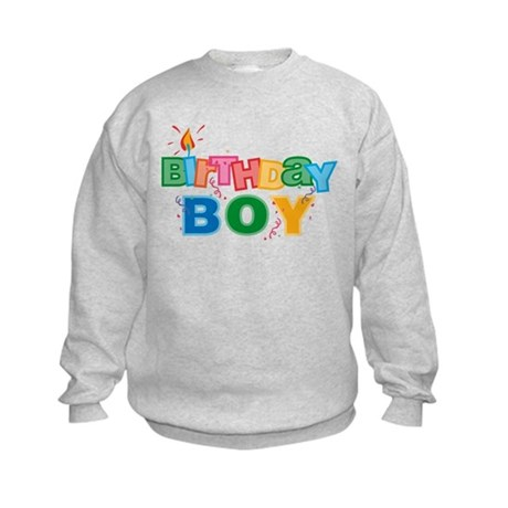 Birthday Boy Letters Kids Sweatshirt