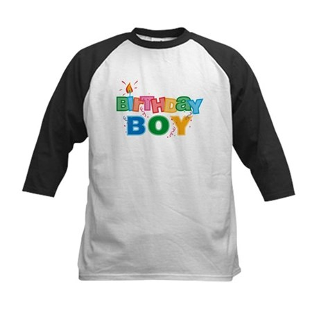 Birthday Boy Letters Kids Baseball Jersey
