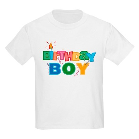 Birthday Boy Letters Kids Light T-Shirt