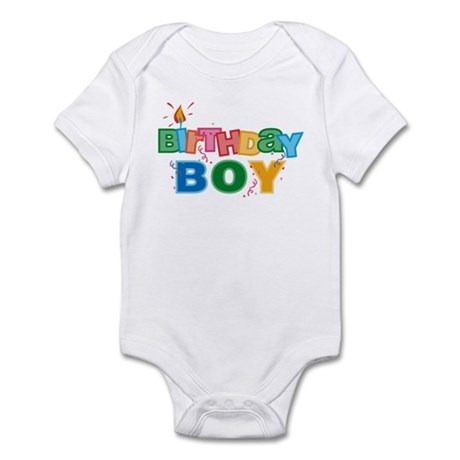 Birthday Boy Letters Infant Bodysuit